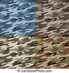 padrão, seamless, camuflagem