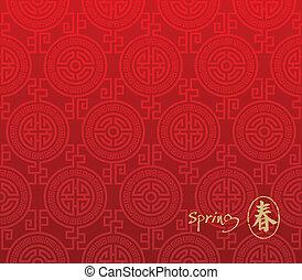 padrão, seamless, chinês