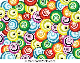 padrão, seamless, coloridos, retro
