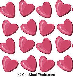 padrão, seamless, corações