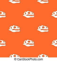 padrão, seamless, cranio, dinossauro