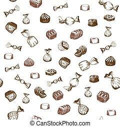 padrão, seamless, doce