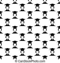 padrão, seamless, estudante