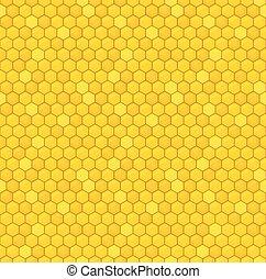 padrão, seamless, favo mel
