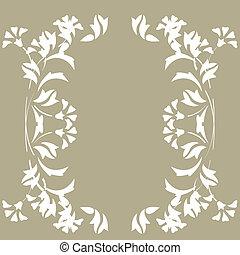 padrão, seamless, floral