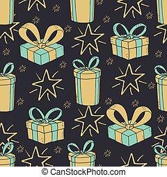 padrão, seamless, fundo, ano, novo, natal