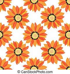padrão, -, seamless, fundo, flores brancas