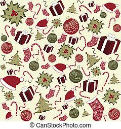 padrão, seamless, fundo, natal