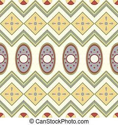 padrão, seamless, geométrico, motives, africano, style.