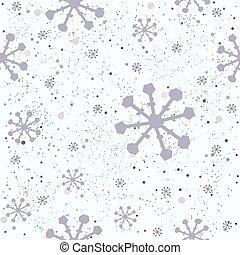 padrão, seamless, mão, fundo, floral, desenhado, branca