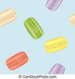 padrão, seamless, macarons