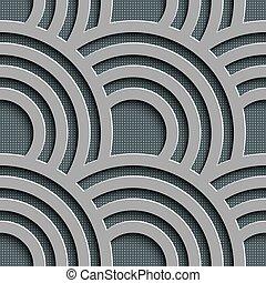 padrão, seamless, onda
