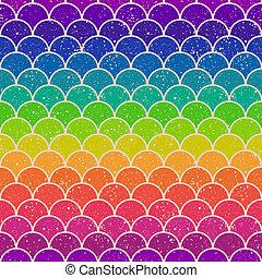 padrão, seamless, onda oceano
