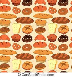 padrão, seamless, pão