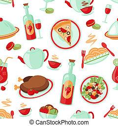 padrão, seamless, restaurante