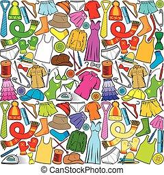 padrão, seamless, roupas