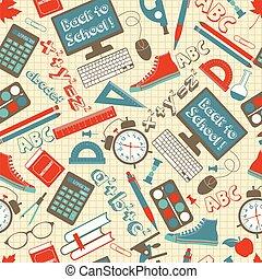 padrão, seamless, school.
