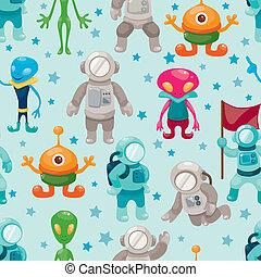 padrão, seamless, spaceman, ufo