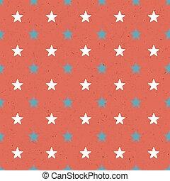 padrão, seamless, textura, papel, estrelas, vermelho
