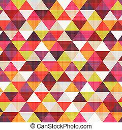 padrão, seamless, textura, triangulo
