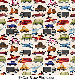 padrão, seamless, transporte