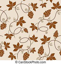padrão, seamless, uvas