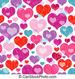 padrão, seamless, valentine