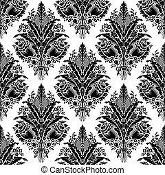 padrão, seamless, vector., damasco