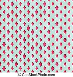 padrão, seamless, vermelho, diamantes