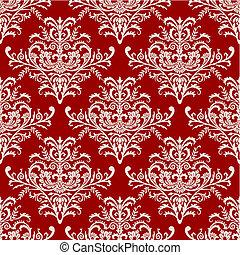 padrão, seamless, vetorial, barroco