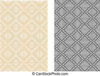 padrão, seamless, vetorial, linha grade, coreano, estilo