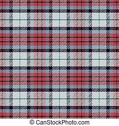 padrão, seamless, vetorial, pretas, escocês, tartan