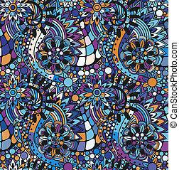 padrão, seamless, zentangle
