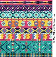padrão, seta, seamless, aztec, pássaros