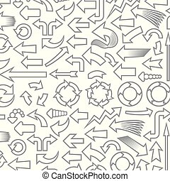 padrão, setas, fundo, ícones