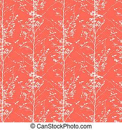 padrão, silhuetas, árvores