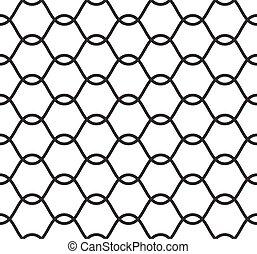 padrão, silueta, padrão, seamless, corda, vetorial, rede