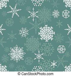 padrão, snowflakes, seamless