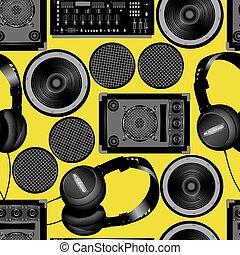 padrão, som, oradores, seamless, subwoofer
