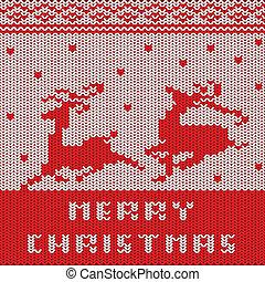 padrão, suéter, natal