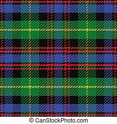 padrão, tartan, pretas, seamless, vetorial, relógio, escocês