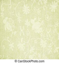 padrão tecido, papel, floral, pálido, ou