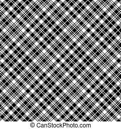 padrão tecido, relógio, seamless, textura, pretas, tartan