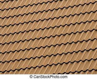 padrão, telhado tiled