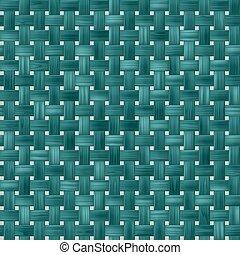 padrão, textura, azul, turquesa, vime, seamless, fundo, tecer, verde, rattan, woody