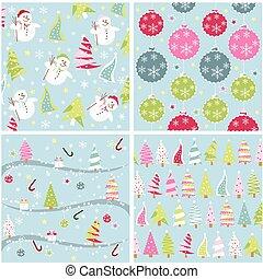 padrão, textura, seamless, natal