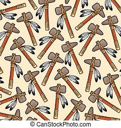 padrão, tomahawk, americano, fundo, nativo