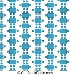 padrão, topo, dinning, fundo, mobília, ícone, vista