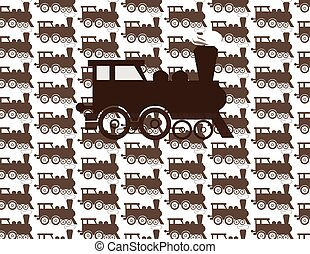 padrão, trem, ilustração