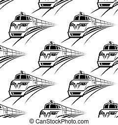 padrão, trem, modernos, seamless